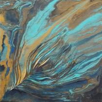 Gegoten acryl op schilderij #2