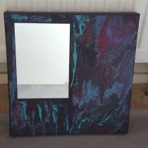 Gegoten acryl op schilderij #7