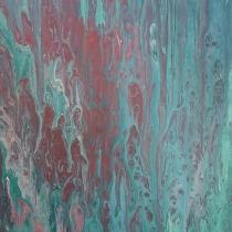 Gegoten acryl op schilderij #8