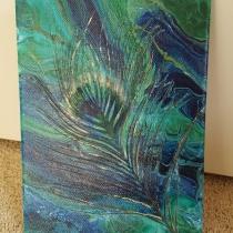 Gegoten acryl op schilderij #9