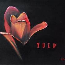 Rode bloemen drieluik - Tulp